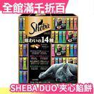 【美味的14種口味 48包禮盒組】日本 SHEBA DUO 夾心餡餅 喵星人 貓咪 餅乾 貓食【小福部屋】