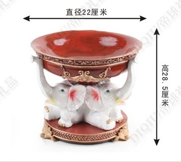 【協貿國際】三福大像如意果盤糖果盤歐式果盤