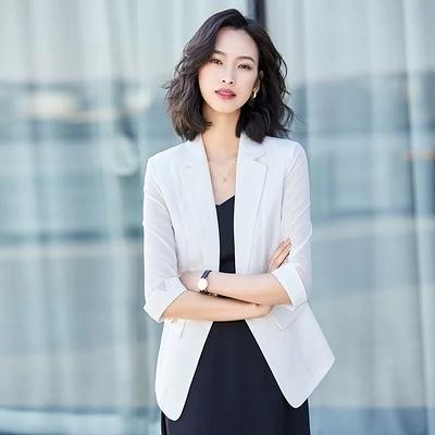 夏秋薄款小西裝外套女韓版修身時尚百搭西服chic潮網紅爆款9559F062B紅粉佳人