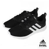 Adidas Qt Racer 黑色 帆布 慢跑運動鞋 女款NO.J0363【新竹皇家 FV9529】