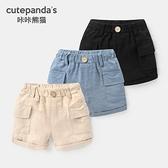 嬰兒衣服短褲夏裝男童女寶寶1休閒小童3歲6個月幼兒薄款褲子Y6903 幸福第一站