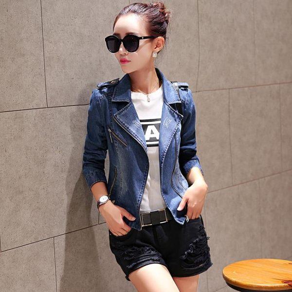 夾克外套 新款小西裝韓版時尚新潮修身顯瘦長袖牛仔外套上衣zr1332『愛尚生活館』