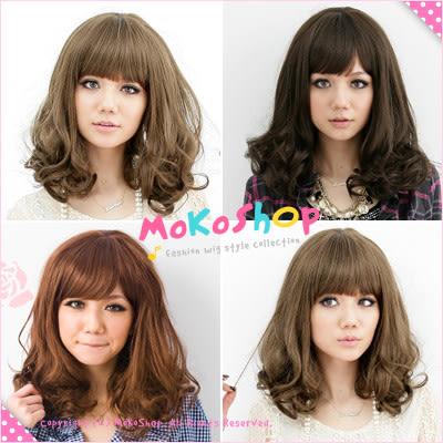 *MoKoShOp*琦琦blog推薦髮型中長捲髮全頂假髮【LYRSH】
