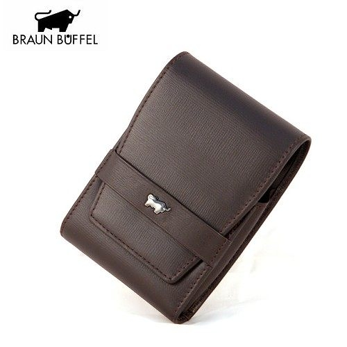 A0884《BRAUN BUFFEL》印信系列皮製菸盒 Cigarette Case(咖啡色)