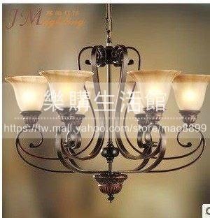 臥室餐廳吊燈鐵藝復古燈LG-18820