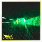 ◤大洋國際電子◢10mm透明殼 綠光 高亮度LED (250PCS/包) 0629-G LED 二極管