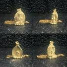 千手觀音菩薩 純銅24K金電鍍屬鼠本命佛守護神佛像項鏈