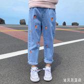 女童牛仔褲 2019秋季新款時尚氣質寬鬆休閒韓版洋氣童裝女 YN1165『寶貝兒童裝』