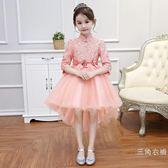 2018新款女童公主裙中國風走秀拖尾旗袍中大童演出服兒童禮服裙子