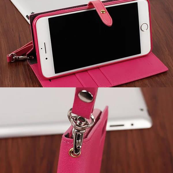 【Hanman 油邊扣】Apple iPhone 6 Plus/6S Plus 5.5吋 真皮皮套/翻頁式保護套/側開插卡手機套/斜立保護殼