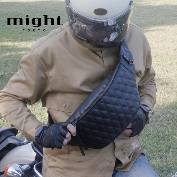 日牌might 2021最新版抗菌騎士菱格包 肩背 腰掛的兩用 MTW-88348