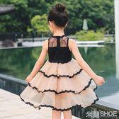 花童禮服 連身裙公主裙蓬蓬紗兒童裝洋氣正韓裙子紗裙
