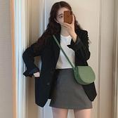 小西裝外套女春秋正韓黑色西服套裝英倫風設計感小眾-Milano米蘭