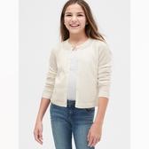 Gap女童棉質粗棒針織圓領毛衣540370-光感亮白