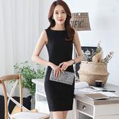 洋裝 職業氣質OL包臀無袖一步裙背心裙631-285 巴黎春天
