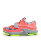 Nike KD VII GS [669942-800] 童鞋 運動 籃球  橘 灰