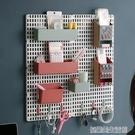 墻面洞洞板置物架免打孔墻上收納學生宿舍神器掛墻桌上家用置物板