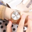 CK / K8A23646 / 極簡風格 細緻迷人 礦石強化玻璃 不鏽鋼手錶 銀x鍍玫瑰金 33mm