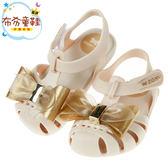 《布布童鞋》ZAXY童趣金蔥大蝴蝶結米色寶寶公主涼鞋(12.5~17.5公分) [ I8A078W ]
