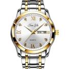 瑞士全自動機械手錶男情侶韓版簡約夜光防水雙日歷男士腕錶 快速出貨
