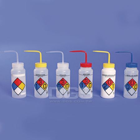 《Bel-Art》彩色洗瓶 PE Safety Wash Bottle, PE