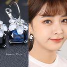 925純銀針  韓國優雅氣質 花朵寶石 ...