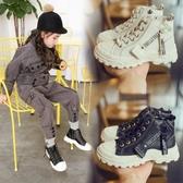 2019年春秋季新款時尚英倫風童馬丁靴女童皮鞋短靴秋冬兒童靴子-ifashion
