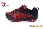 Merrell  Moab FST 男款戶外登山鞋 真皮 Gore-Tex 防水 黃金大底 抗菌防臭 越野休閒鞋G8334#紅色 奧森童鞋