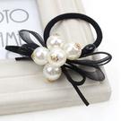 韓版小香風白珍珠髮飾 髮圈 髮束髮繩(白珍珠款)-艾發現