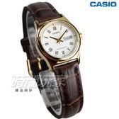 CASIO卡西歐 LTP-V006GL-7B 經典優雅石英女錶 真皮錶帶 學生手錶 防水 咖啡x金 LTP-V006GL-7BUDF