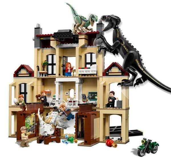 【LEGO樂高】侏羅紀世界 殞落國度 混血恐龍Indoraptor 亂鬧洛克伍德的房子 #75930