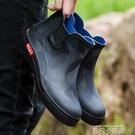 短筒雨鞋男士秋冬款加絨保暖雨靴防滑中筒水靴耐磨時尚防水鞋膠鞋 依凡卡時尚