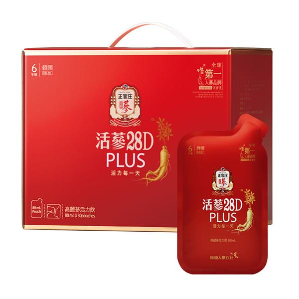 正官庄 活蔘28D PLUS(30包/盒)x1