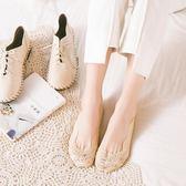 10雙蕾絲船襪女防滑純棉襪薄款淺口隱形襪子~