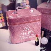 化妝包大容量小號便攜韓版簡約可愛少女收納盒品化妝箱手提 歐韓時代