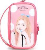 化妝包新款漆皮大容量手提 簡約韓版