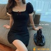 性感蕾絲吊帶連衣裙女夏季2021年新款小個子無袖修身顯瘦收腰裙子【小橘子】