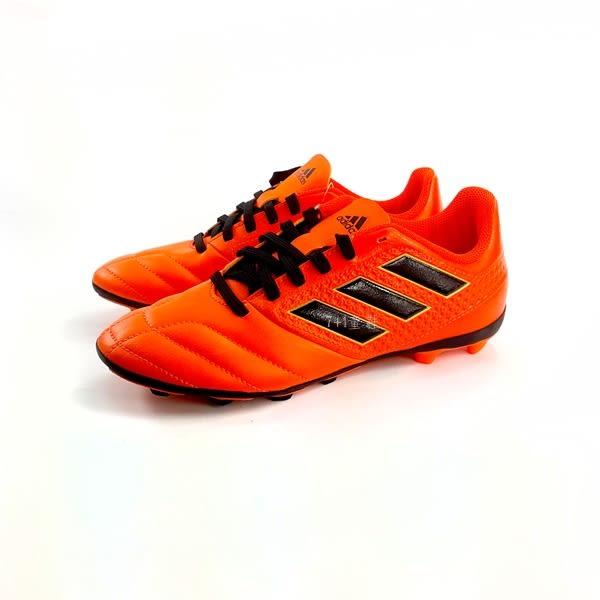 中童ADIDAS ACE 17.4 FxG J 戶外足球鞋《7+1童鞋》7275橘色