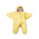 BabyBites 西班牙鯊魚咬一口 嬰兒包巾睡袋(標準版)小海星-鵝蛋黃[衛立兒生活館]