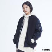 [STRL] 厚磅編織拼接MA1