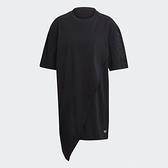 【陸壹捌折後$2080】Adidas ORIGINALS BELLISTA 女裝 短袖 佯裝 休閒 不對稱下擺 寬鬆 黑 GN3165