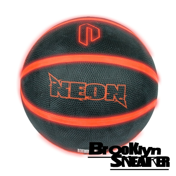 NEON LED LIGHT UP BALL 黑橘 霓虹 發光 室外 籃球 (布魯克林) 2019/3月 RB7AGNEONKO