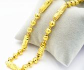 免運仿真金男士黃金項鍊 鍍金久不掉色首飾送霸王男友歐幣飾品