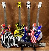 DRL固定琴橋電吉他22品電吉它吉他送琴包(彩繪版)-炫彩腳丫折扣店