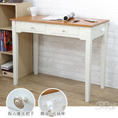 桌子 工作桌 辦公桌 書桌 電腦桌 化妝桌 古典 美式風【S0007】90cm雙抽書桌 台灣製|宅貨