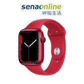Apple Watch S7 LTE 45mm 紅色鋁金屬-紅色運動型錶帶[預約賣場]