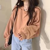 秋季2020年新款韓版寬鬆薄款長袖百搭短款T恤女學生純色上衣ins潮 【年貨大集Sale】