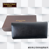 【Roberta Colum】諾貝達 鱷魚紋 男士專櫃皮夾/皮夾/短夾 (黑色-23558)【威奇包仔通】