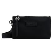 【南紡購物中心】LONGCHAMP LE PLIAGE NÉO系列尼龍頸掛式手拿包(黑)