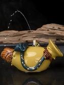紫砂茶寵可養創意手工茶玩噴水青蛙茶臺茶桌擺件【聚寶屋】